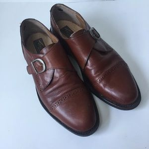 Venturini 10 D brown leather monk Oxford shoes